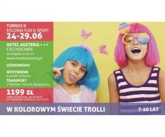"""Kolonia dla dzieci – Fun & Sport pod hasłem """"W kolorowym świecie Trolli"""""""
