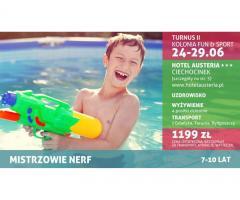 """Kolonia dla dzieci – Fun & Sport pod hasłem """"Mistrzowie Nerf"""""""