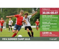 """Kolonia dla dzieci – Letni Chillout na Kaszubach pod hasłem """"Fifa Summer Camp 2018"""""""