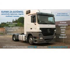 Skup samochodów ciężarowych: volvo, Mercedes, Man, daf, Renault, iveco