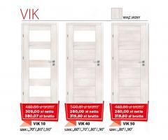 Drzwi wewnętrzne drewniane Vik