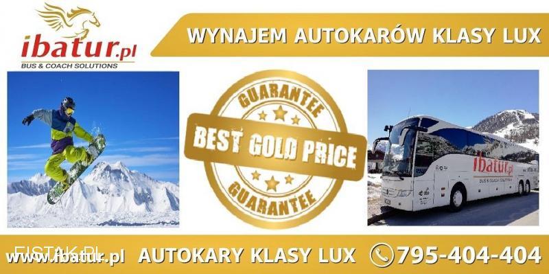Wynajem autokarów klasy lux Ibatur na narty/ snowbaord/wyjazdy incentive