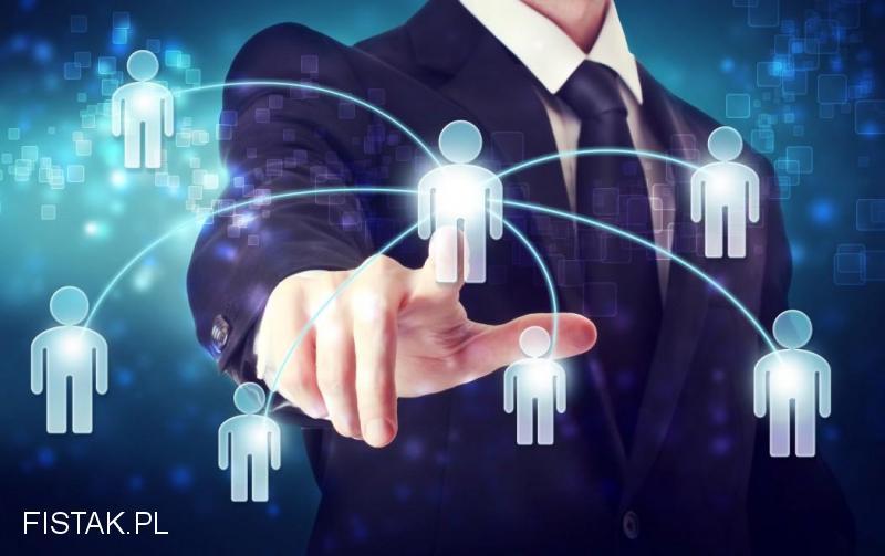 Mobilny sprzedawca usług bankowych i reklam internetowych