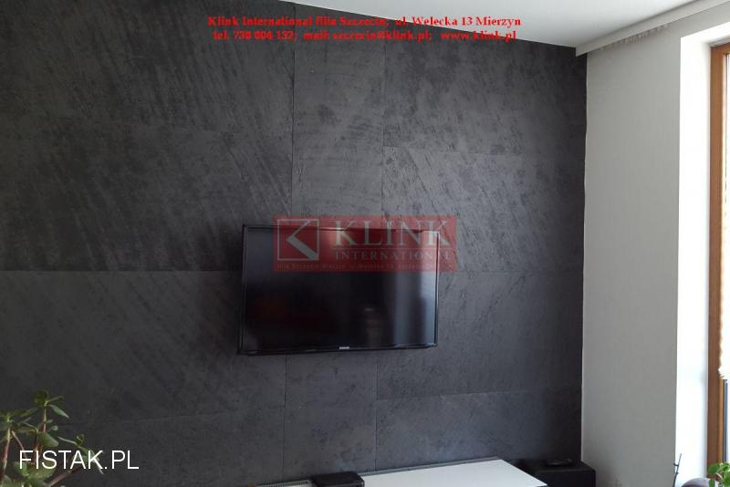 Fornir kamienny Łupek Black Slate Czarny Grafit 120x60cm - PROMOCJA!