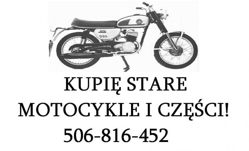 Skup-KUPIĘ stare zabytkowe motocykle, motorowery, motory!
