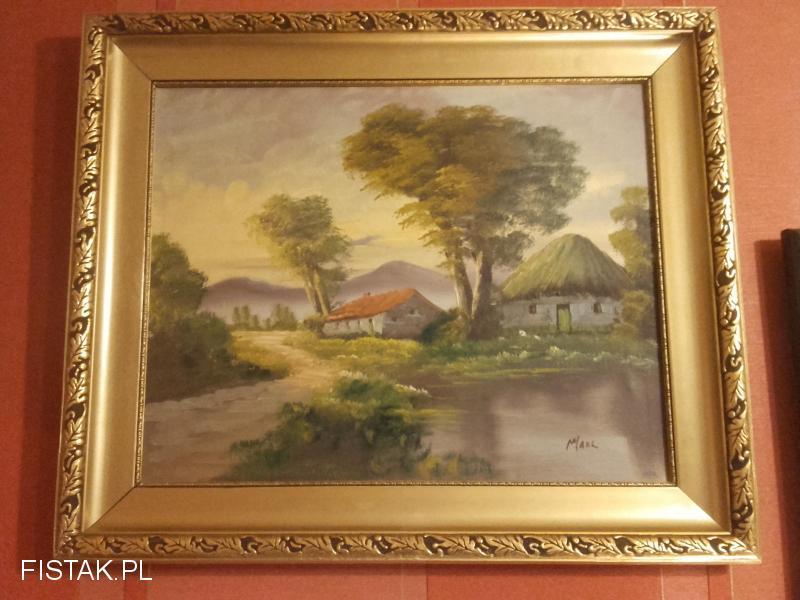 Sprzedam stary obraz olejny duży TANIO!!  Wysyłka