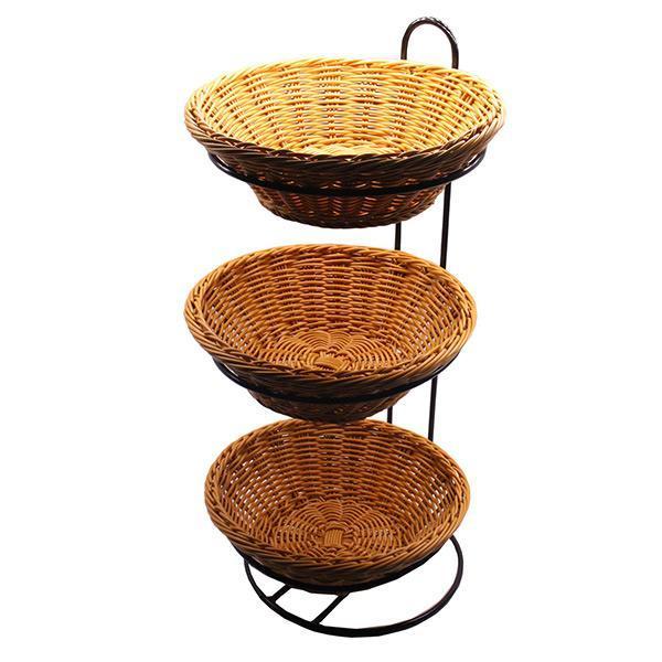 Stojak z trzema okrągłymi koszyczkami