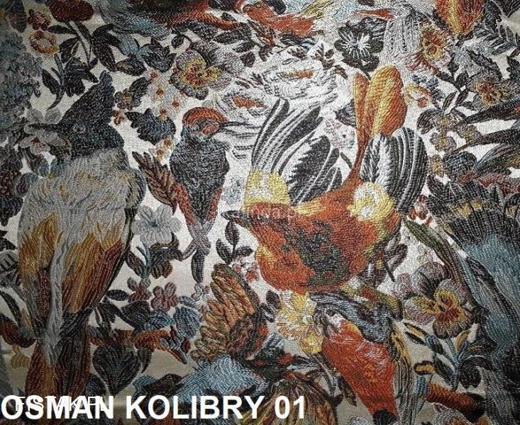 Tkanina obiciowa, żakardowa Osman Kolibry