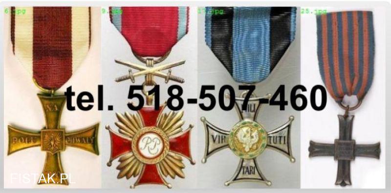 Kupię stare ordery, medale, odznaki, odznaczenia, orzełki tel.518-507-460
