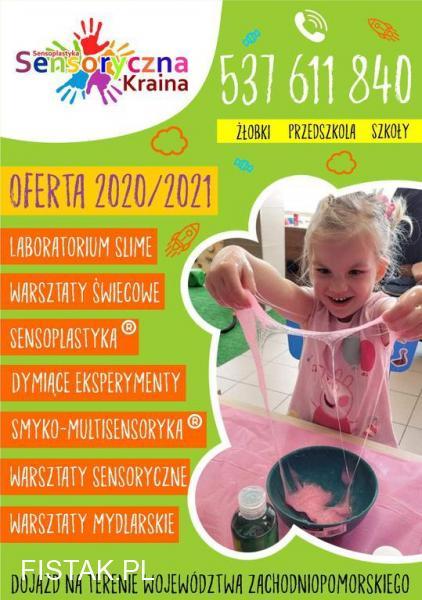 Sensoryczna Kraina warsztaty dla dzieci , szkół ,żłobków i przedszkoli