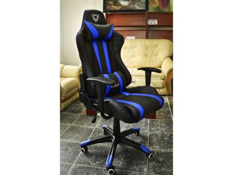Fotel gamingowy dla graczy Diablo X-One niebieski