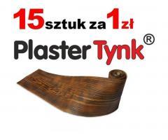 Deska elewacyjna PlasterTynk .Elastyczna okładzina elewacyjna -  imitacja drewna