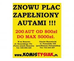 !!! KOMIS TYSIAK Największy komis z tanimi autami !!!