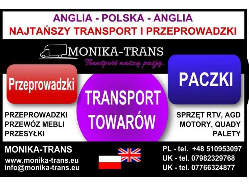 Przeprowadzki/transport POLSKA - ANGLIA